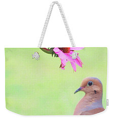 Weekender Tote Bag featuring the photograph Mourning Dove by Sue Collura