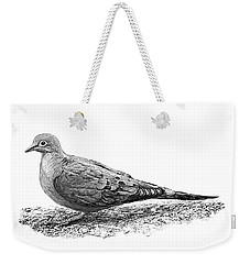 Mourning Dove B And W Weekender Tote Bag