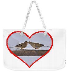 Mourning Doves Kissing Weekender Tote Bag