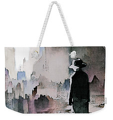 Weekender Tote Bag featuring the painting Mourning The American Dream by Susan Maxwell Schmidt