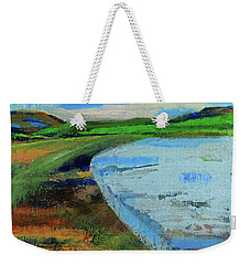 Weekender Tote Bag featuring the painting Mouth Of The Creek by Walter Fahmy