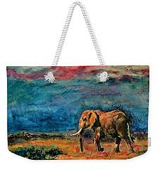 Moving Away Weekender Tote Bag by Khalid Saeed