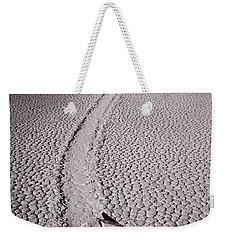 Moving Rocks Number 2  Death Valley Bw Weekender Tote Bag