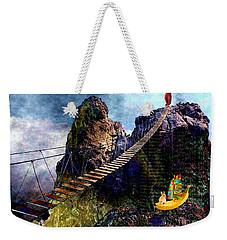 Moving Sideways Weekender Tote Bag by Mojo Mendiola