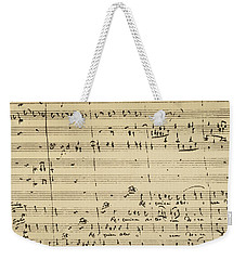 Weekender Tote Bag featuring the photograph Mozart: Requiem Excerpt by Granger