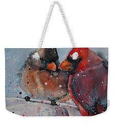 Mr. And Mrs. Cardinal Weekender Tote Bag