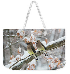 Mr. And Mrs. Cedar Wax Wing Weekender Tote Bag