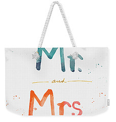 Mr And Mrs Weekender Tote Bag