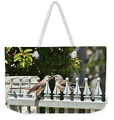 Mr And Mrs Mockingbird With Worms Weekender Tote Bag