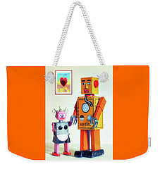 Mr And Mrs Robot's Anniversary Weekender Tote Bag