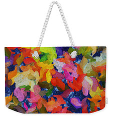 Mr Autumn Meets  Lady Spring - Painting - Wet Paint  Weekender Tote Bag by Sir Josef - Social Critic -  Maha Art