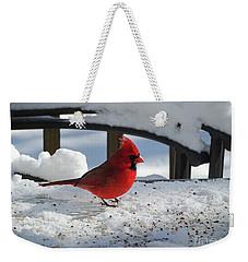 Mr. Cardinal Weekender Tote Bag by Melissa Messick