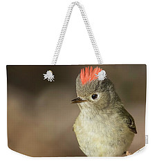 Weekender Tote Bag featuring the photograph Mr Kinglet  by Mircea Costina Photography