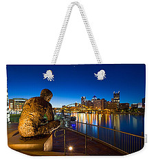 Weekender Tote Bag featuring the photograph Mr Rogers Statue 3 by Emmanuel Panagiotakis