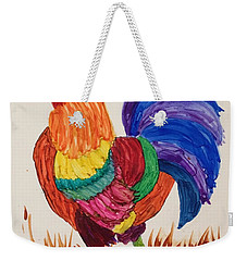 Mr Rooster Weekender Tote Bag by Suzanne Canner