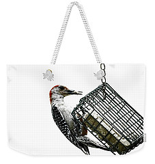 Weekender Tote Bag featuring the photograph Mr. Woodpecker by Melissa Messick