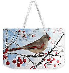 Mrs Red Bird The Visit Weekender Tote Bag