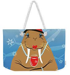 Mrs. Walrus Weekender Tote Bag