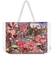 Ms. Elizabeth Peppermint World Weekender Tote Bag
