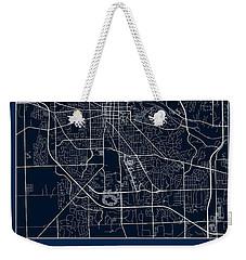 U Of M Street Map - University Of Michigan In Ann Arbor Map Weekender Tote Bag by Jurq Studio