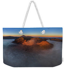Weekender Tote Bag featuring the photograph Mt Bromo Sunrise by Pradeep Raja Prints