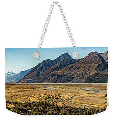Weekender Tote Bag featuring the photograph Mt Cook And Tasman River  by Gary Eason