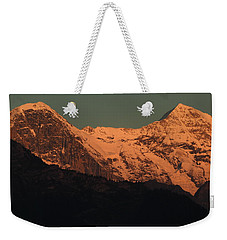 Mt. Eiger And Mt. Moench At Sunset Weekender Tote Bag