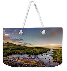 Weekender Tote Bag featuring the photograph Mt. Evans Alpine Stream by Chris Bordeleau