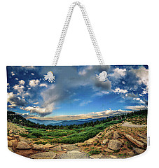 Weekender Tote Bag featuring the photograph Mt. Evans Alpine Vista by Chris Bordeleau