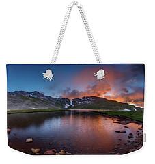 Mt. Evans Summit Lake Twilight Weekender Tote Bag