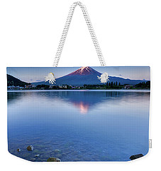 Mt Fuji - First Light Weekender Tote Bag