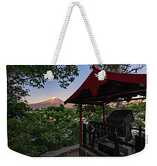Mt Fuji From Ubuyagasaki Shrine Weekender Tote Bag