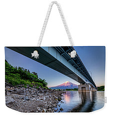 Mt Fuji - Under The Bridge Weekender Tote Bag