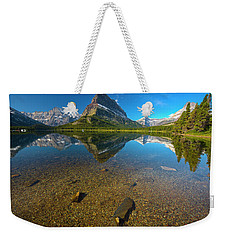 Weekender Tote Bag featuring the photograph Mt. Grinnell by Gary Lengyel