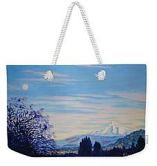 Mt Hood A View From Gresham Weekender Tote Bag by Lisa Rose Musselwhite