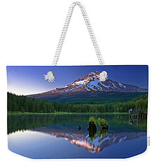 Mt. Hood Reflection At Sunset Weekender Tote Bag by William Lee
