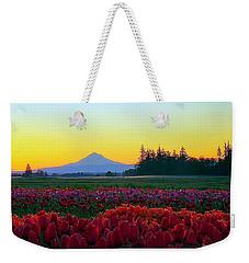 Mt. Hood Sunrise And Tulip Field Weekender Tote Bag