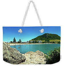 Mt Maunganui Beach 13 - Tauranga New Zealand Weekender Tote Bag by Selena Boron