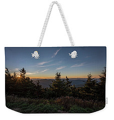 Mt Mitchell Sunset North Carolina 2016 Weekender Tote Bag by Terry DeLuco