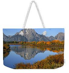 Mt. Moran Fall Reflection  Weekender Tote Bag
