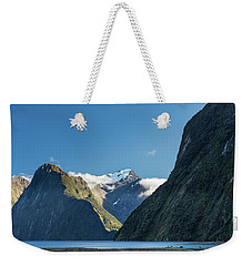 Weekender Tote Bag featuring the photograph Mt Pembroke Glacier by Gary Eason