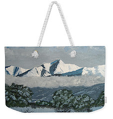 Weekender Tote Bag featuring the painting Mt Princeton Co by Norm Starks