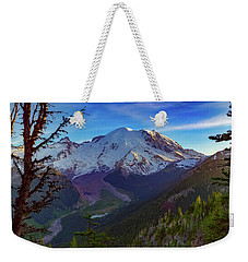 Mt Rainier At Emmons Glacier Weekender Tote Bag