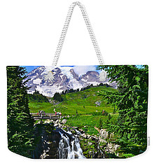 Mt. Rainier From Myrtle Falls Weekender Tote Bag