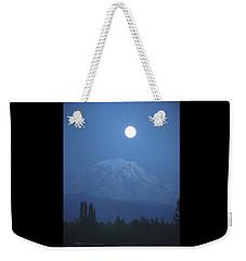 Mt Rainier Full Moon Weekender Tote Bag