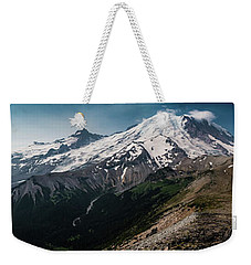 Mt. Rainier Panoramic Weekender Tote Bag