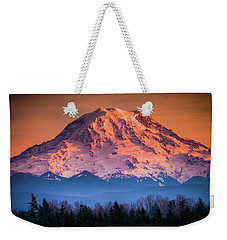 Mt. Rainier Sunset Weekender Tote Bag