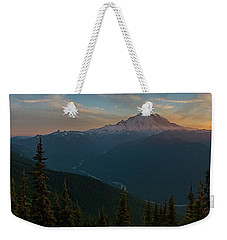 Mt Rainier Sunset Glow Weekender Tote Bag