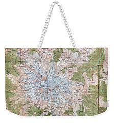 Mt. Rainier Topographic Map 1915 Weekender Tote Bag