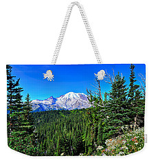 Mt. Rainier Wildflowers Weekender Tote Bag
